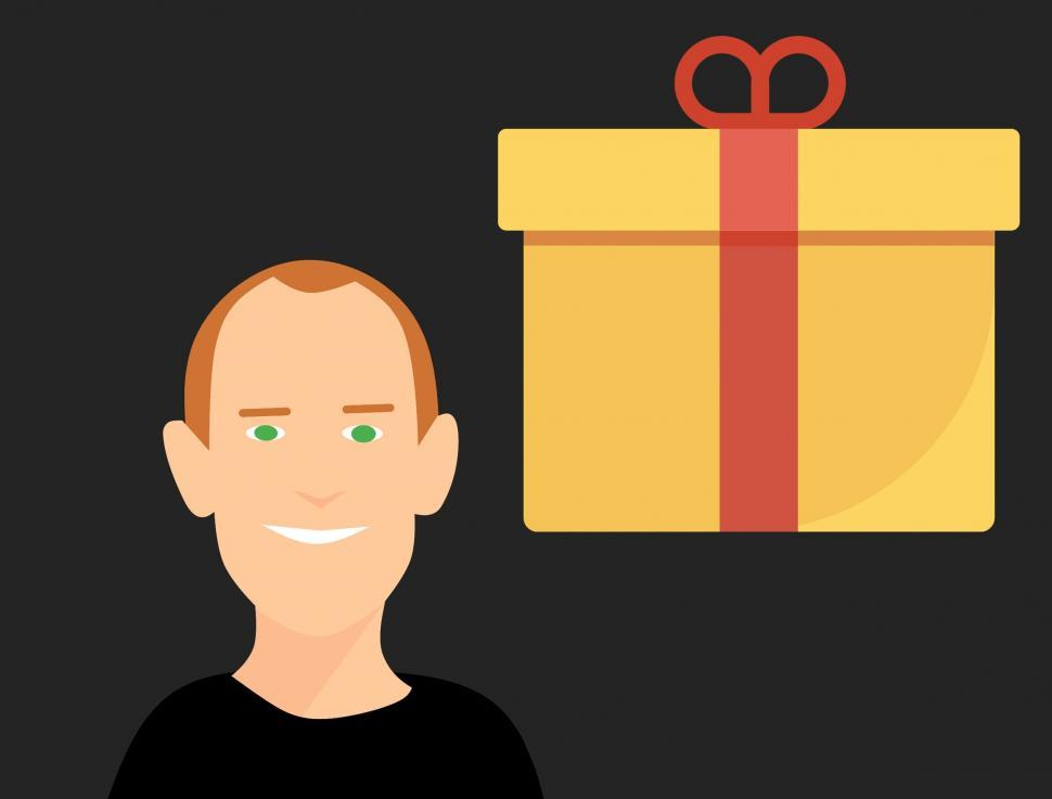 Download Free Stock HD Photo of gift box and man Online