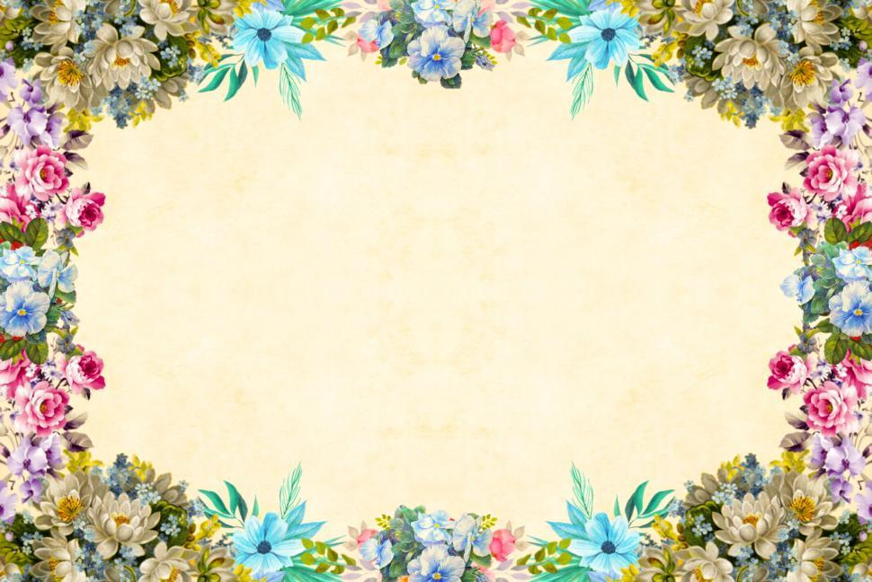 get free stock photos of flower background vintage frame