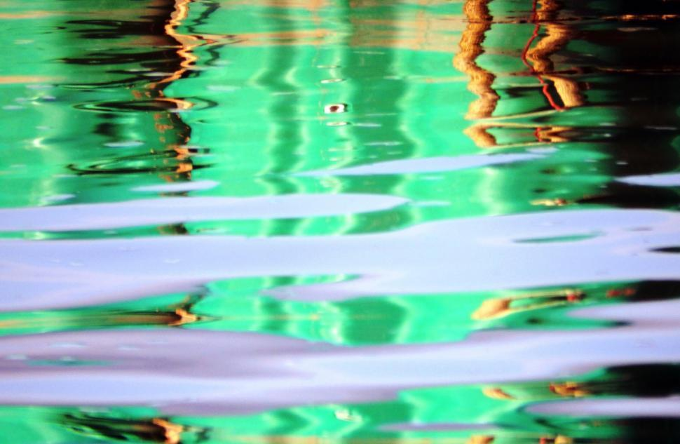 Download Free Stock HD Photo of Vivid green abstract water reflection background  Online