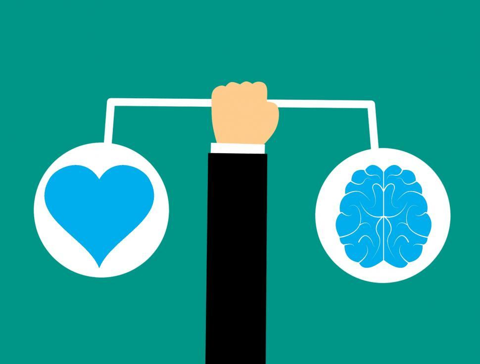 Download Free Stock HD Photo of brain & heart  Online