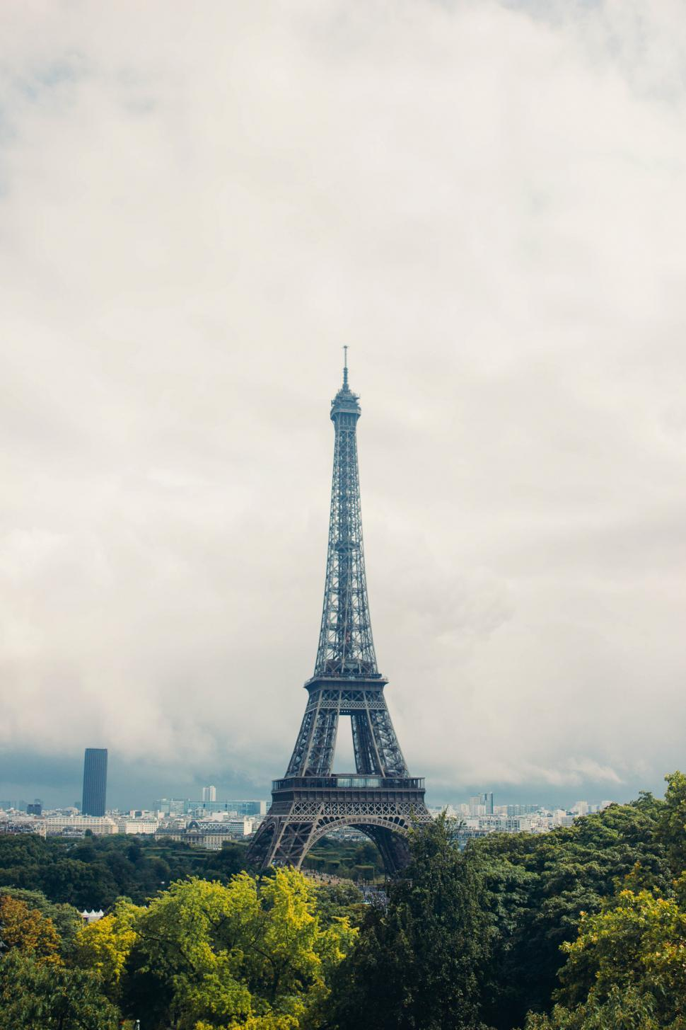 Download Free Stock HD Photo of Eiffel tower surrounded by trees Online