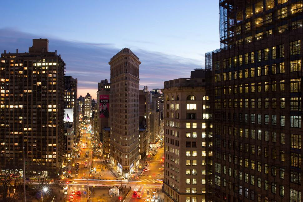 Download Free Stock HD Photo of The Flatiron Building in Manhattan, New York City Online