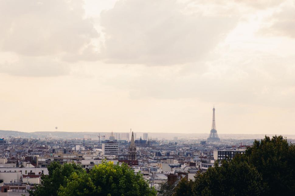 Download Free Stock HD Photo of A panoramic view of Paris Online