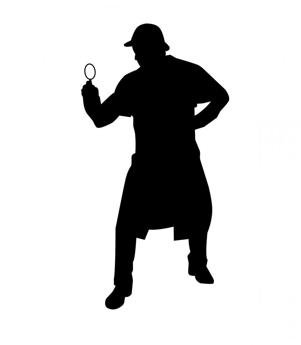 Download Free Stock HD Photo of Sherlock Holmes Silhouette  Online