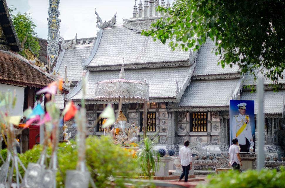 Download Free Stock HD Photo of Temple made from silver  Online