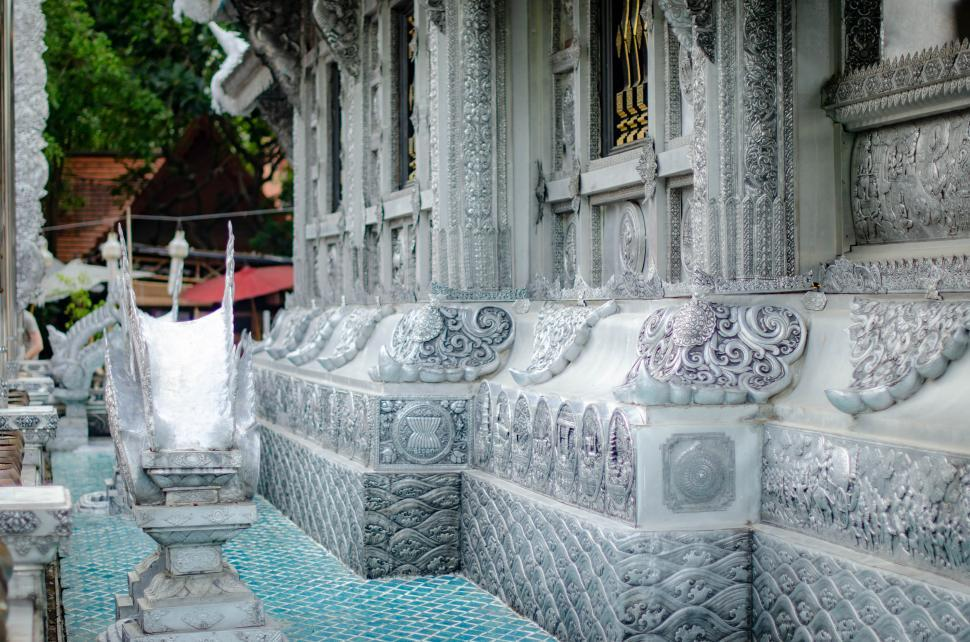 Download Free Stock HD Photo of Details of Temple made from silver  Online