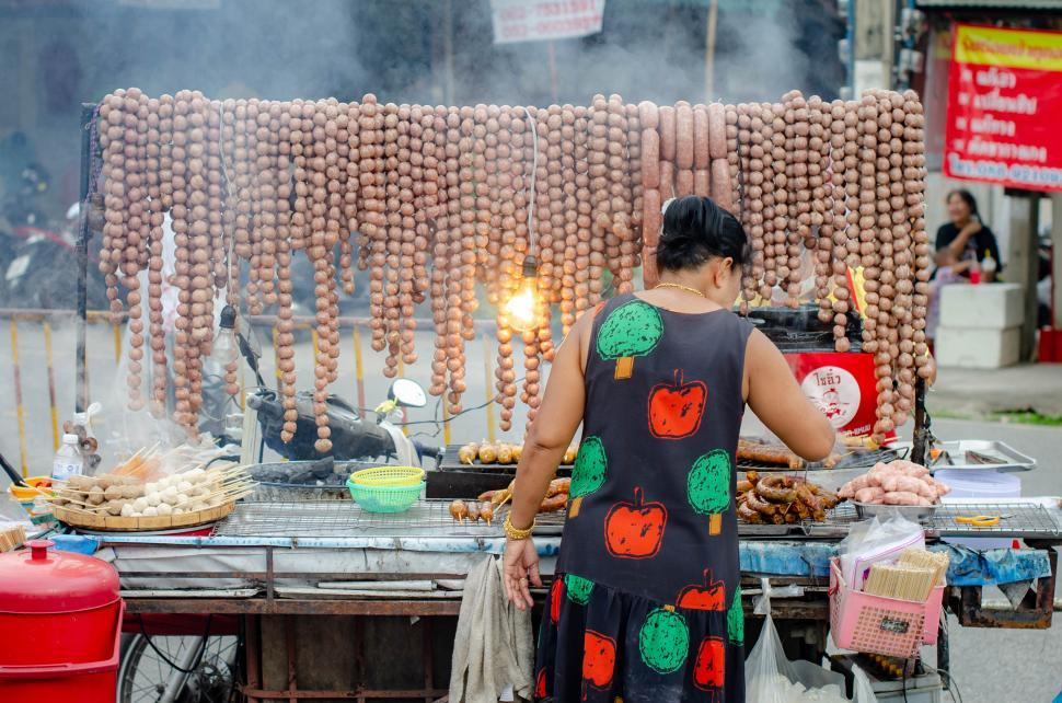 Download Free Stock HD Photo of Street Vendor of Thai Food  Online
