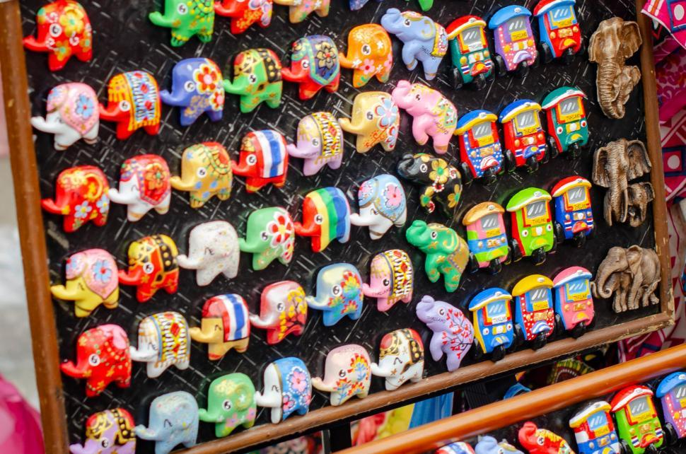 Download Free Stock HD Photo of Hand Made Gift - Rack of Figurines Online