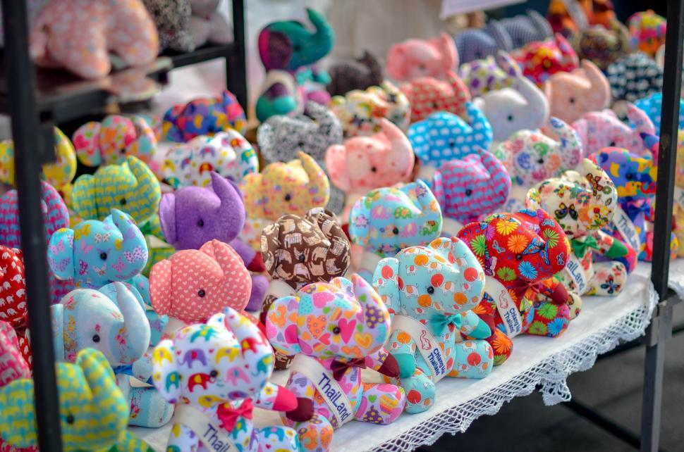 Download Free Stock HD Photo of Elephant gifts in market Online
