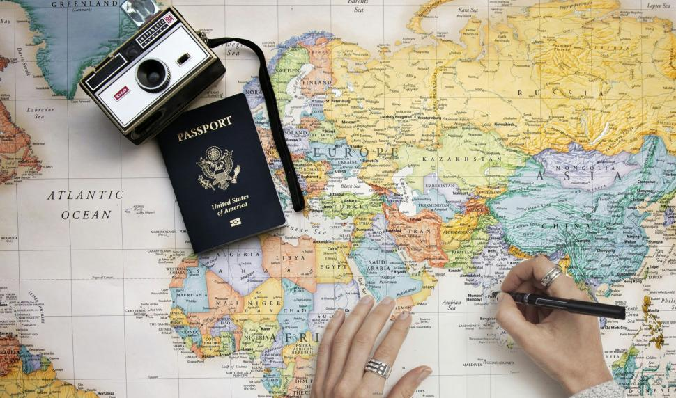 Download Free Stock HD Photo of traveling map  Online