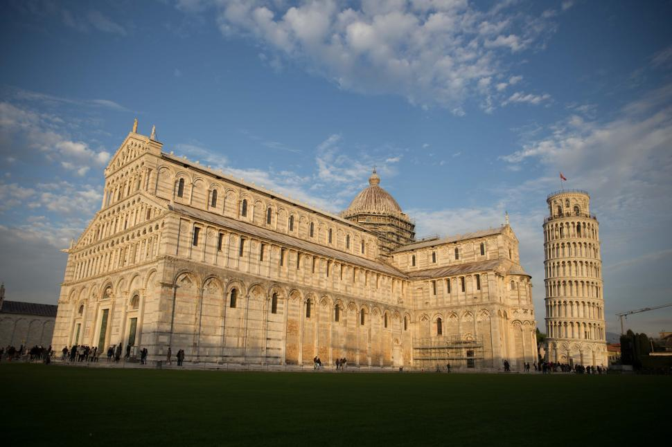 Download Free Stock HD Photo of Pisa Cathedral with the Leaning Tower of Pisa Online