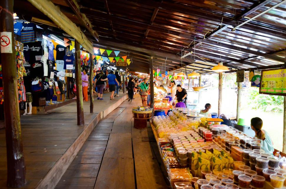 Download Free Stock HD Photo of Covered Thai Local Market  Online