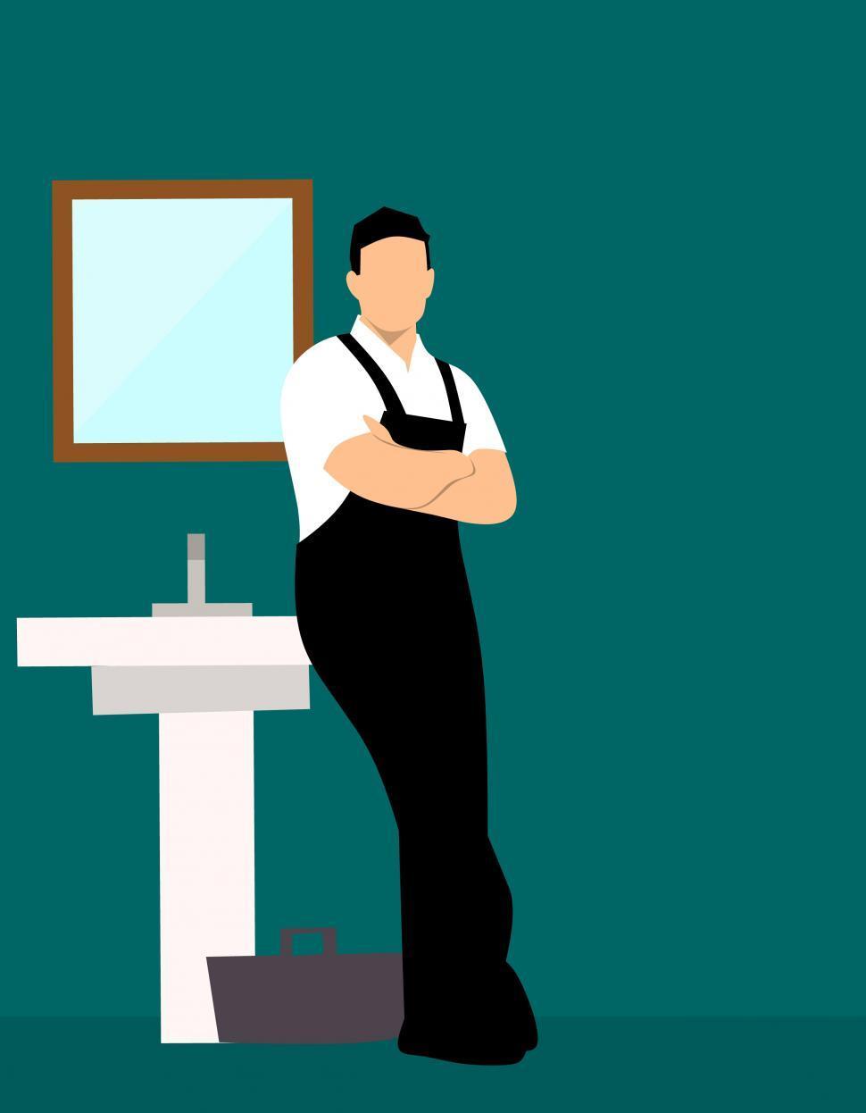 Download Free Stock HD Photo of plumber man  Online