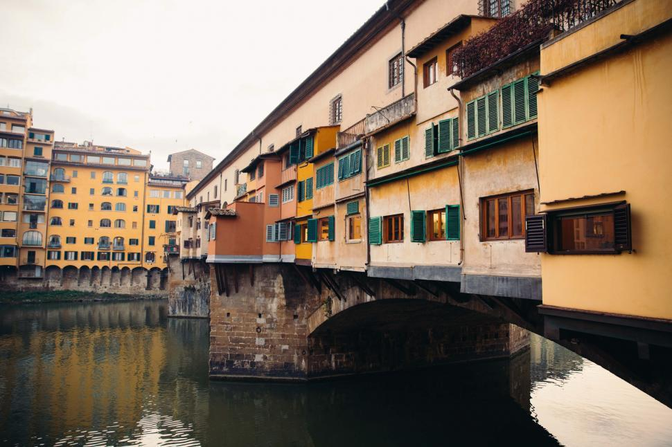 Download Free Stock HD Photo of A bridge over a river in Florence, Italy Online