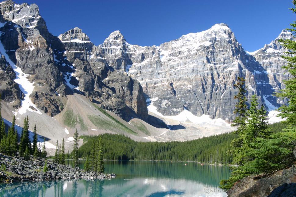 Download Free Stock HD Photo of Morain Lake Online