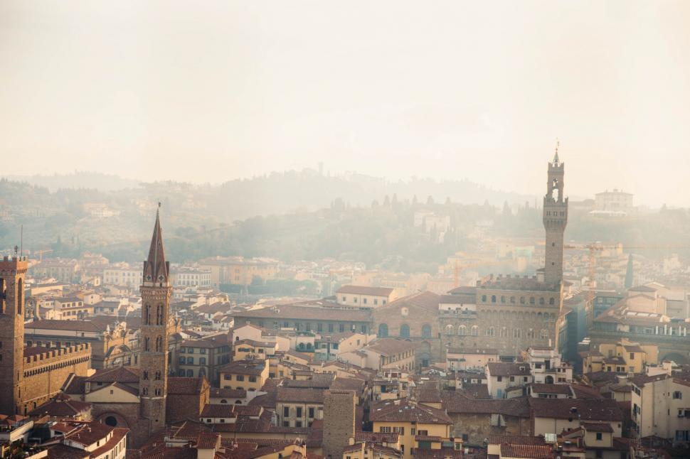 Download Free Stock HD Photo of Florence Italy in haze Online