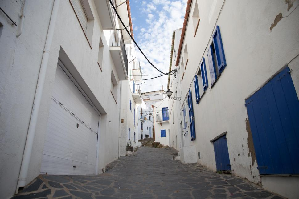 Download Free Stock HD Photo of A slope way through the alley Online