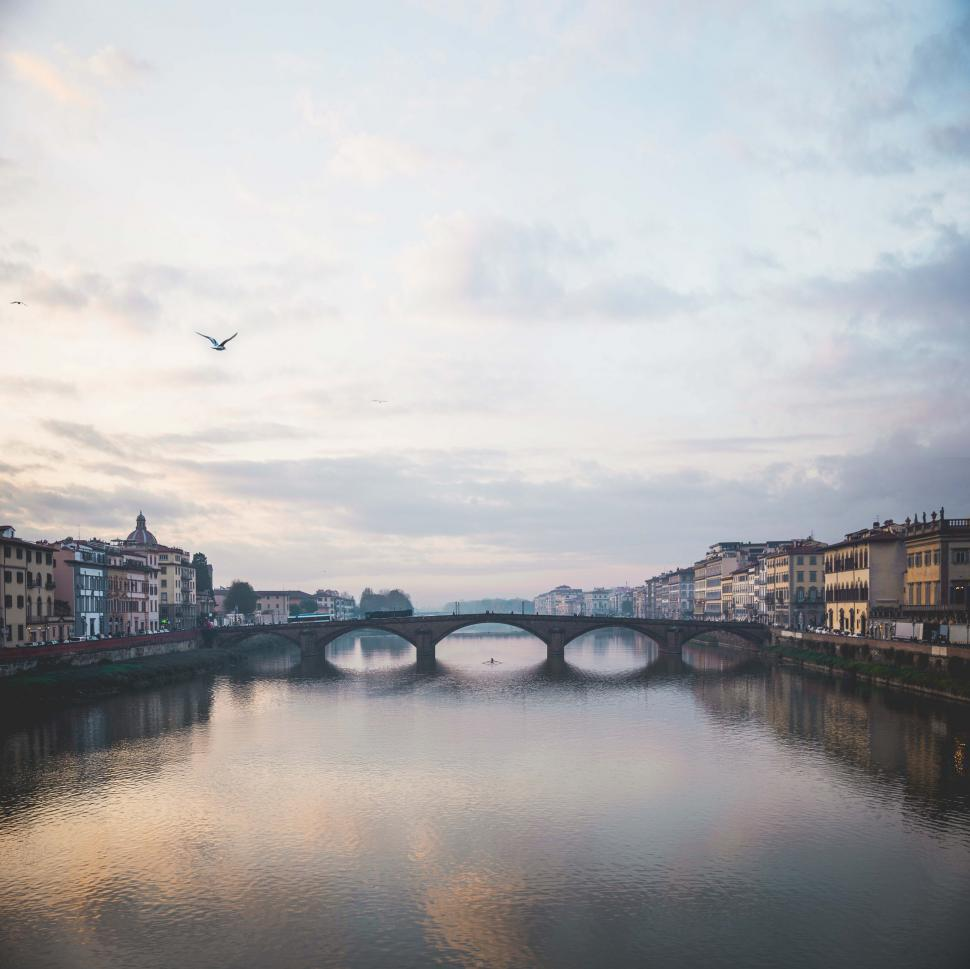Download Free Stock HD Photo of A bridge over Arno river in Florence, Italy Online