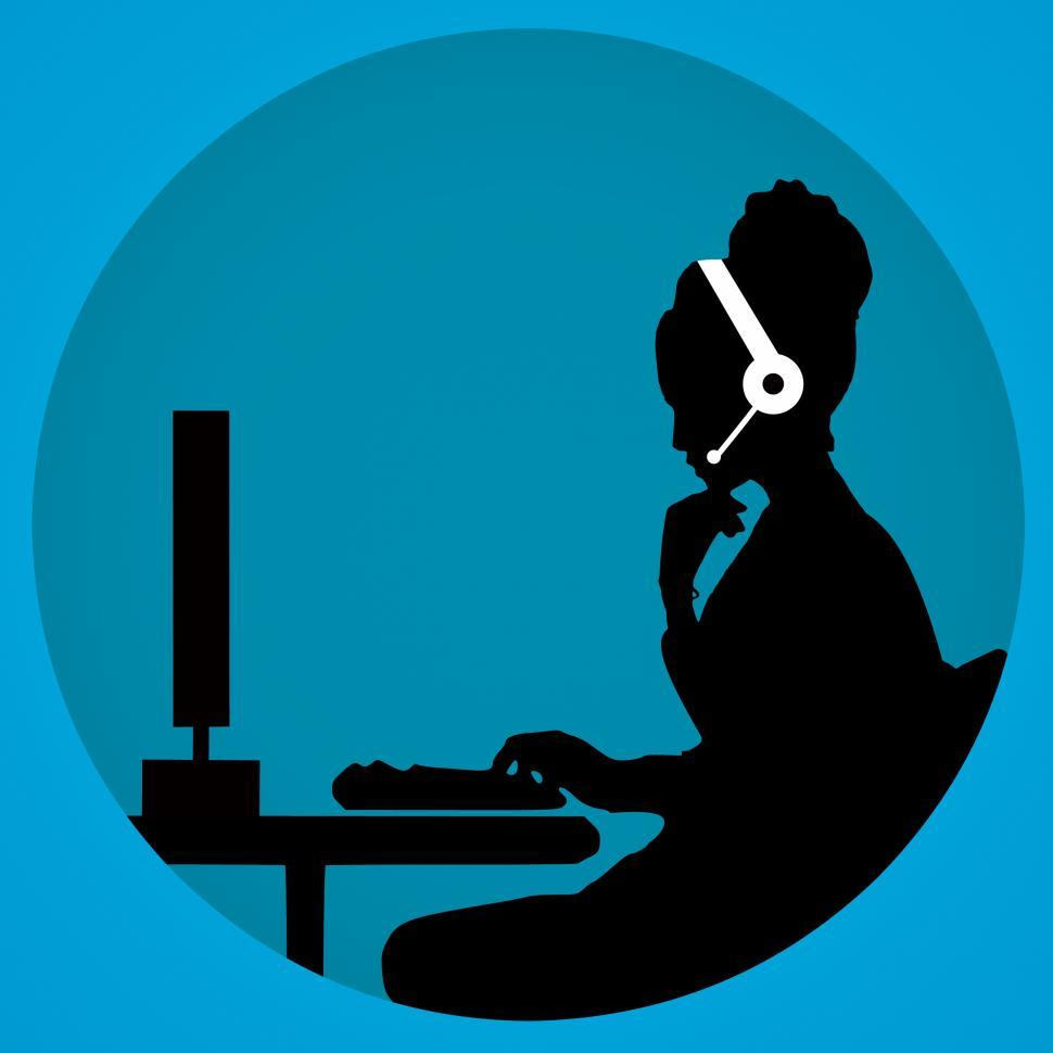 Download Free Stock HD Photo of call center Silhouette  Online