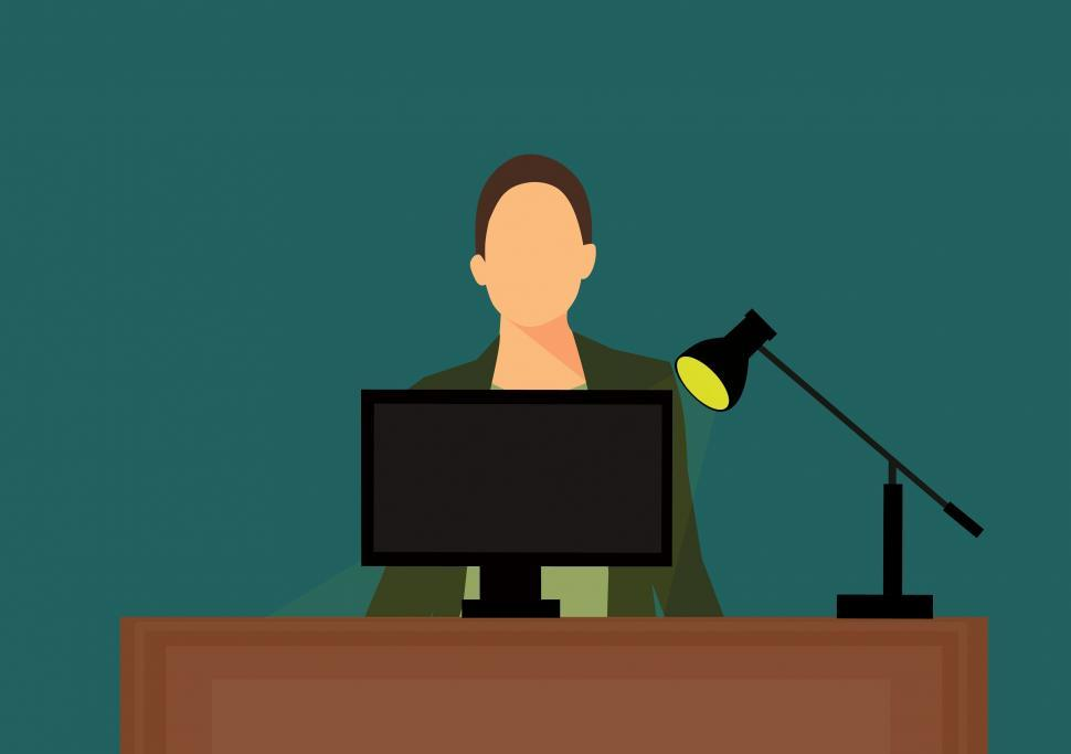 Download Free Stock HD Photo of secretary at office Illustration  Online