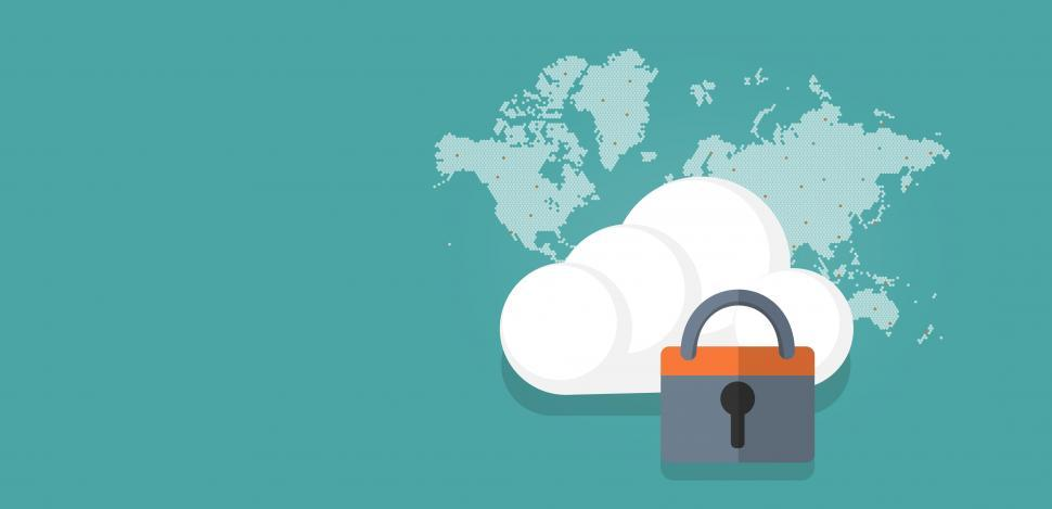 Download Free Stock HD Photo of Cloud Security Concept - With Copyspace Online