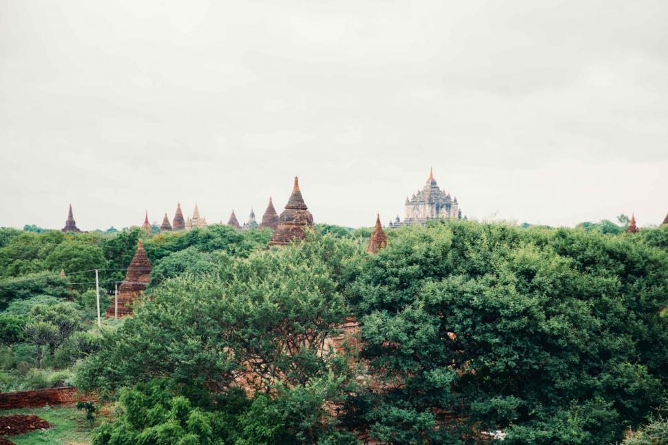 Download Free Stock HD Photo of Ancient pagodas in Bagan, Myanmar Online
