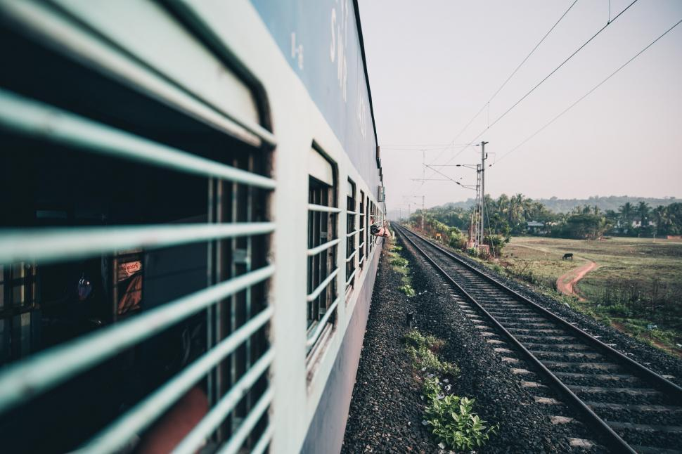 Download Free Stock HD Photo of Perspective view of an Indian train coach window Online