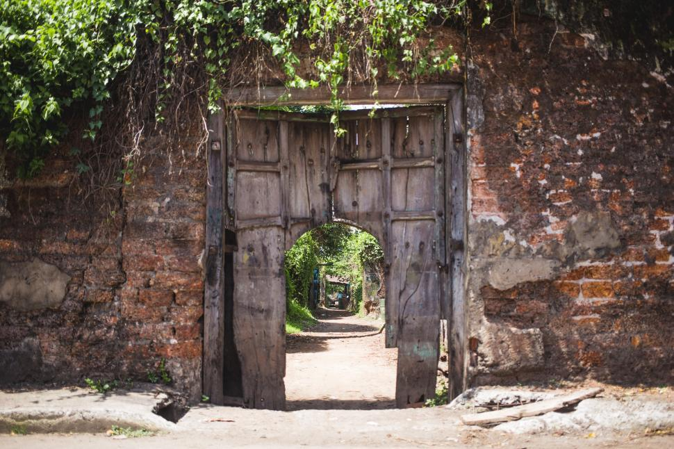 Download Free Stock HD Photo of A weathered doorway Online