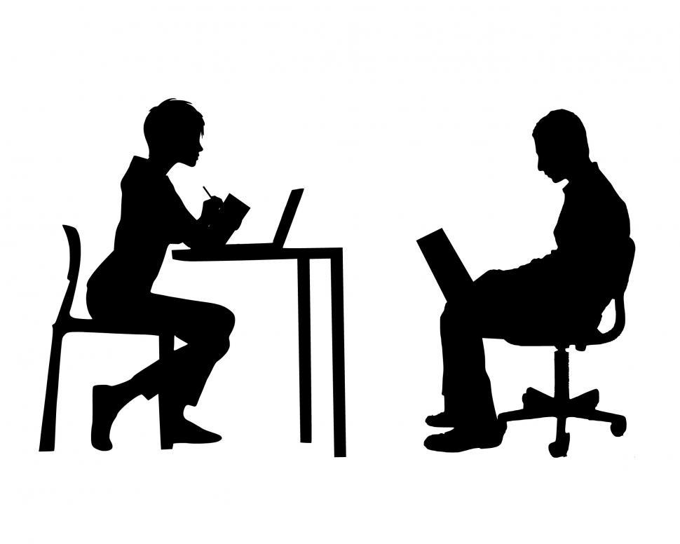 Download Free Stock HD Photo of team meeting Silhouette  Online