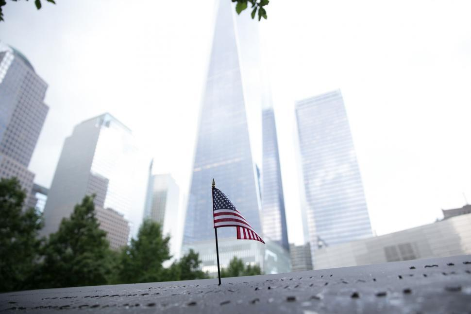 Download Free Stock HD Photo of American flag in New York Online