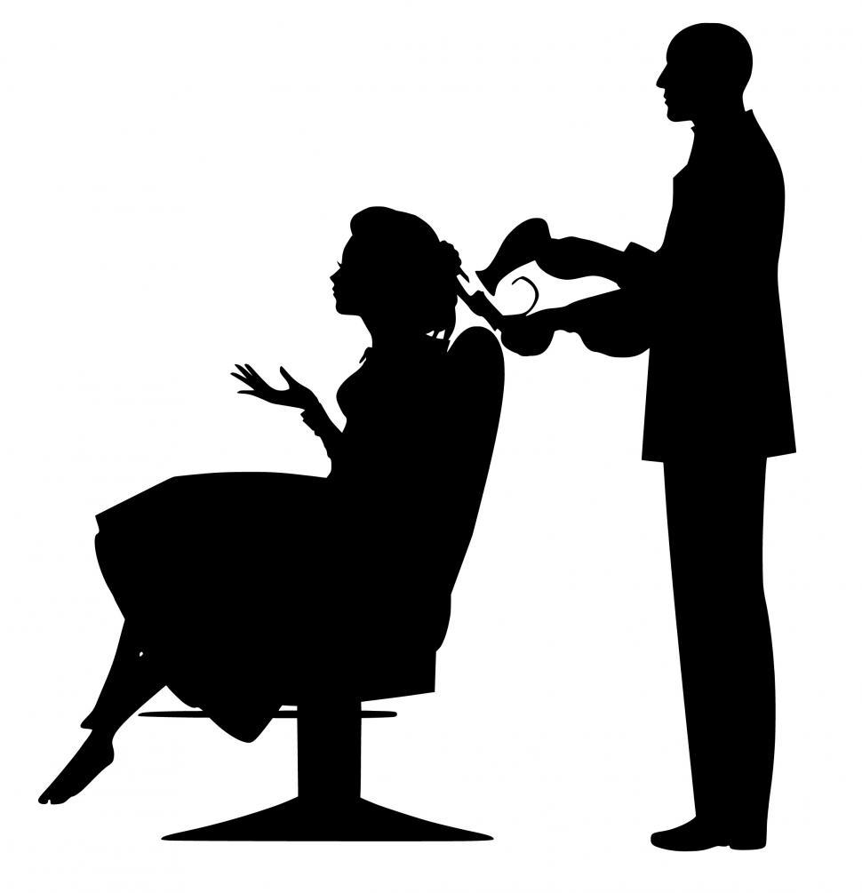 Download Free Stock HD Photo of hairdresser Silhouette  Online