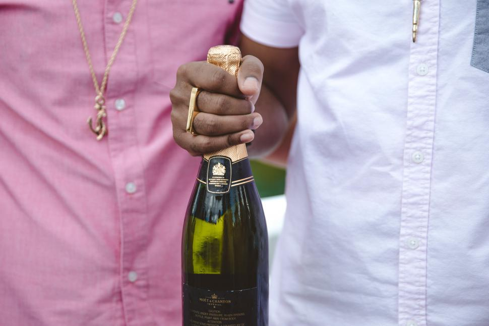 Download Free Stock HD Photo of Friends celebrating with champagne Online