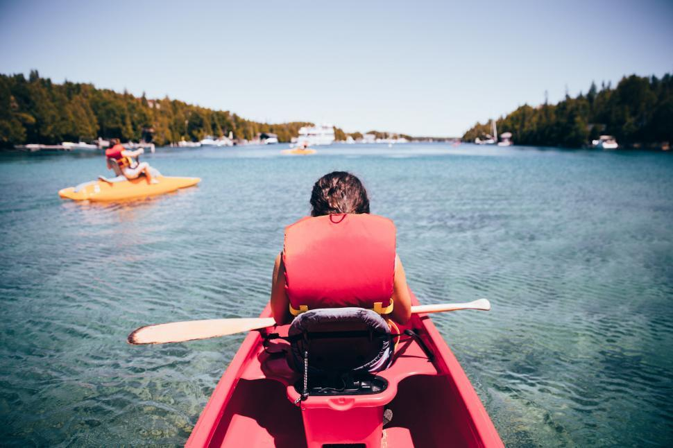 Download Free Stock HD Photo of Kayaking in the lake Online