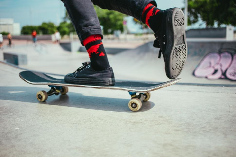Download Free Stock HD Photo of Skateboarding on the ramp Online