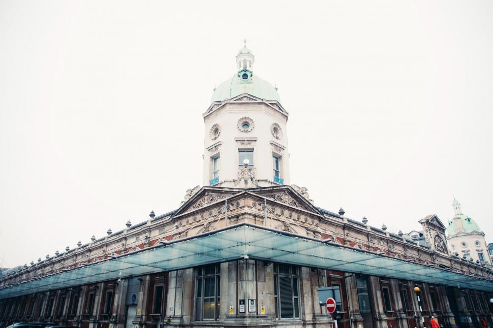Download Free Stock HD Photo of Exterior of Smithfield Market, Lindsey Street, London, England Online