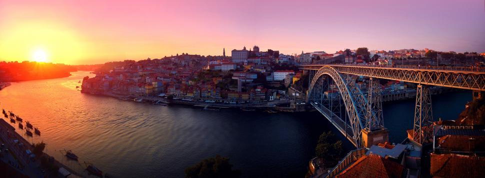 Download Free Stock HD Photo of Porto - Portugal - Old Town at Sunset Online