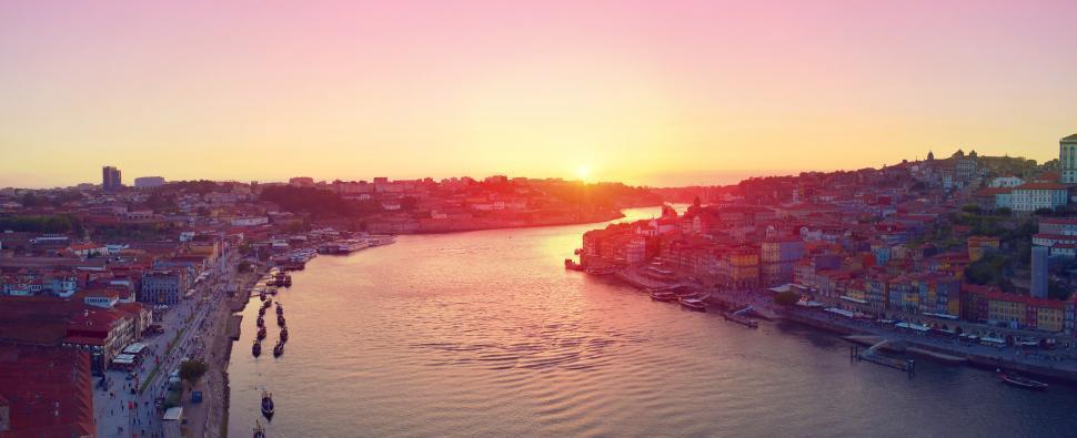 View From Luis I Bridge - Porto - Portugal