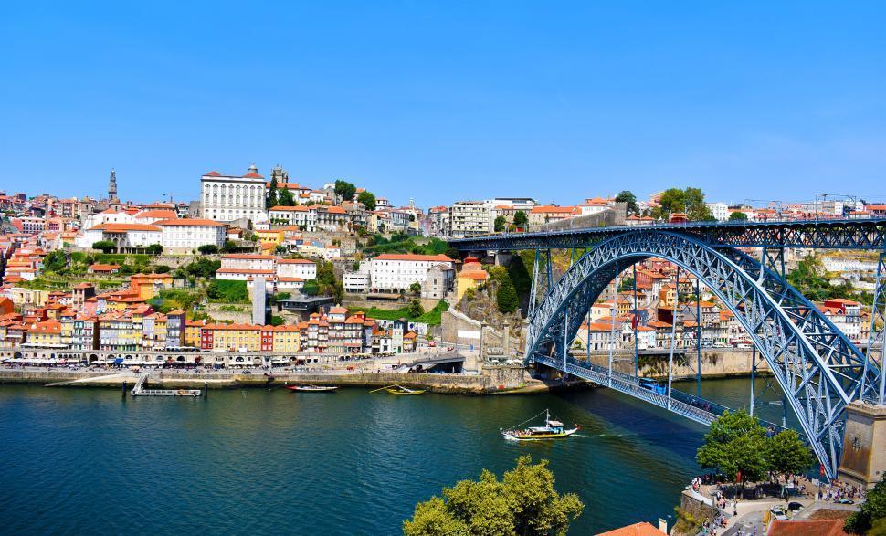 Download Free Stock HD Photo of Luis I Bridge - Porto - Portugal - The longest double-decker met Online