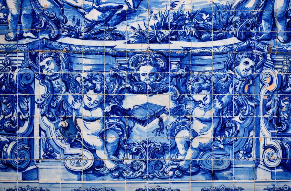 Download Free Stock HD Photo of Ancient Typical Portuguese Tiles - Azulejos - Porto Online