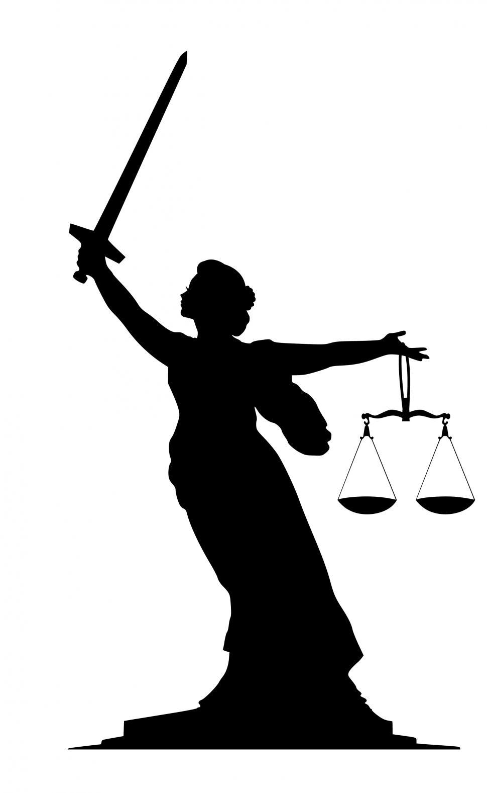 Download Free Stock HD Photo of lady justice Silhouette  Online