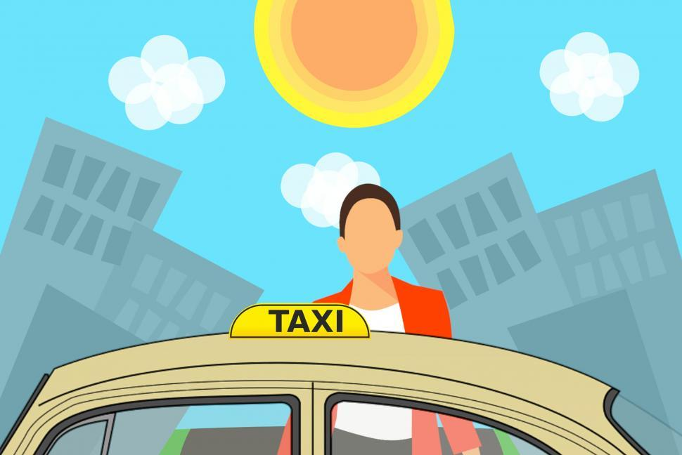 Download Free Stock HD Photo of woman entering taxi  Online