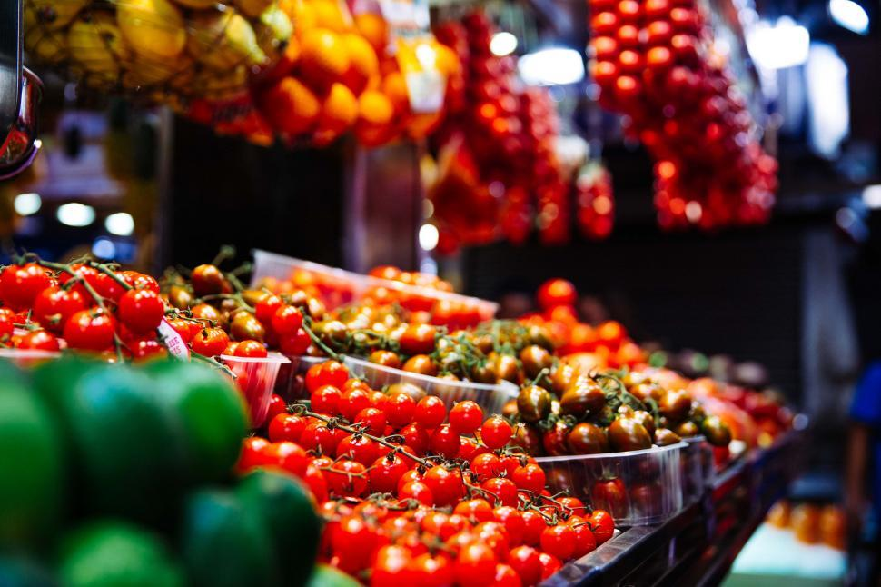 Download Free Stock HD Photo of Fresh tomatoes in the market Online