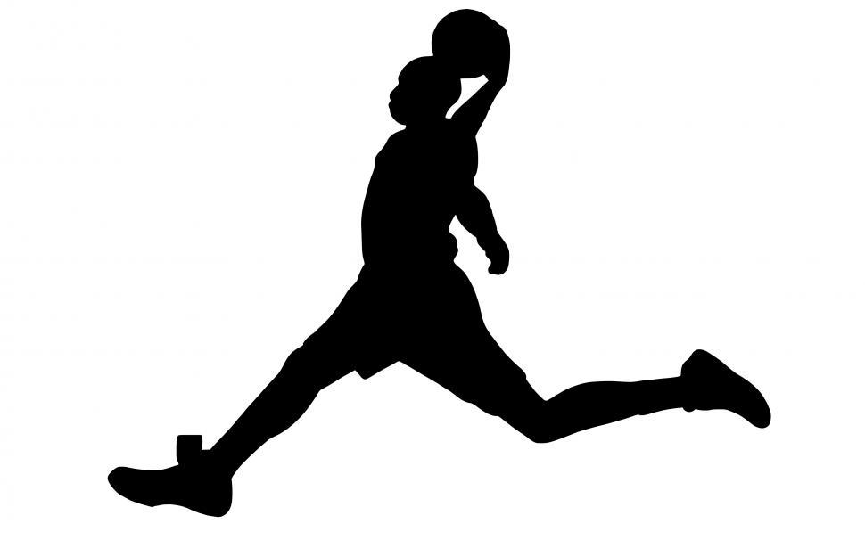 Download Free Stock HD Photo of basketball dunk Silhouette  Online
