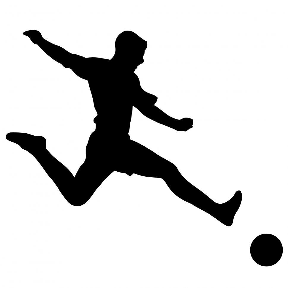 Download Free Stock HD Photo of football player Silhouette  Online
