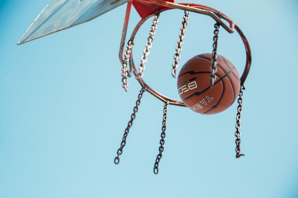 Download Free Stock HD Photo of Basketball in basketball net Online