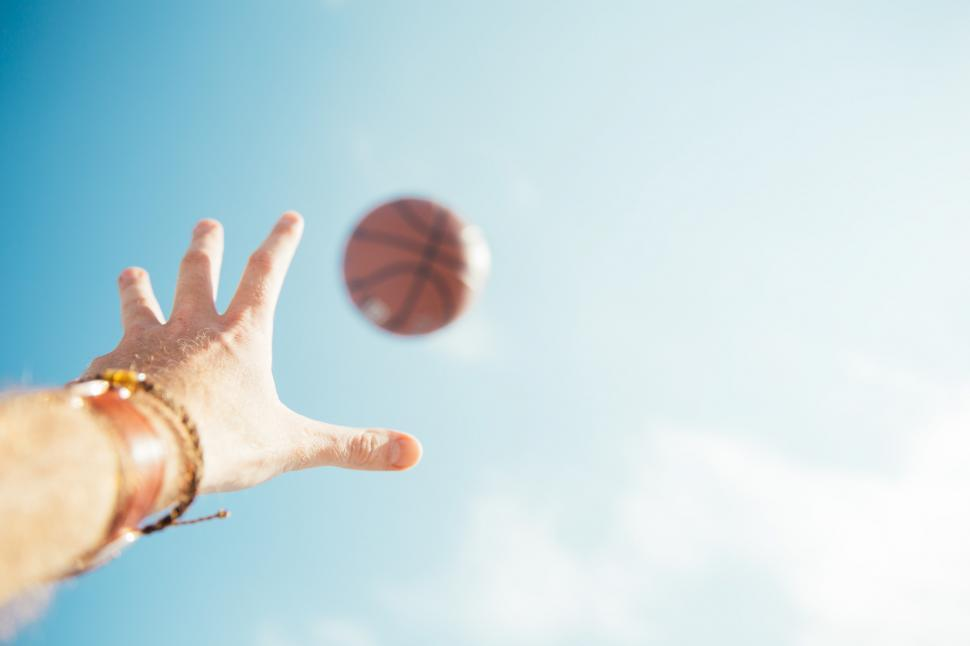 Download Free Stock HD Photo of A basketball throw Online