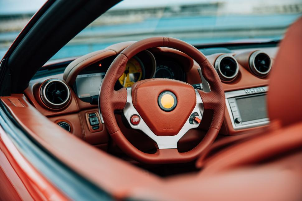 Download Free Stock HD Photo of Side view of leather interior of a car Online