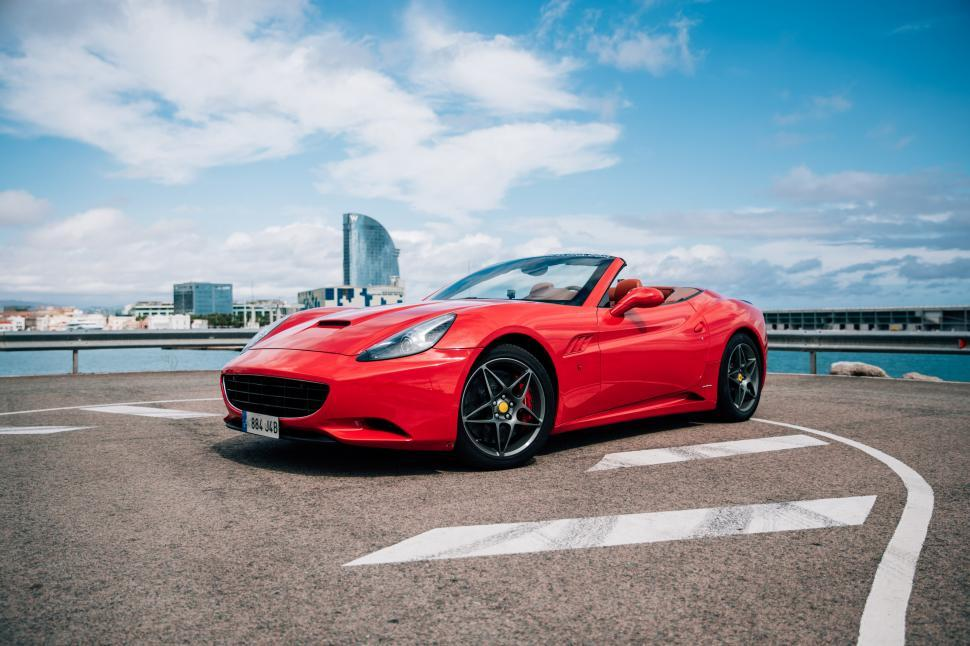 Download Free Stock HD Photo of Red convertible sports car Online