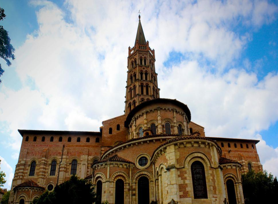 Download Free Stock HD Photo of Basilica of Saint Sernin - Toulouse -France Online