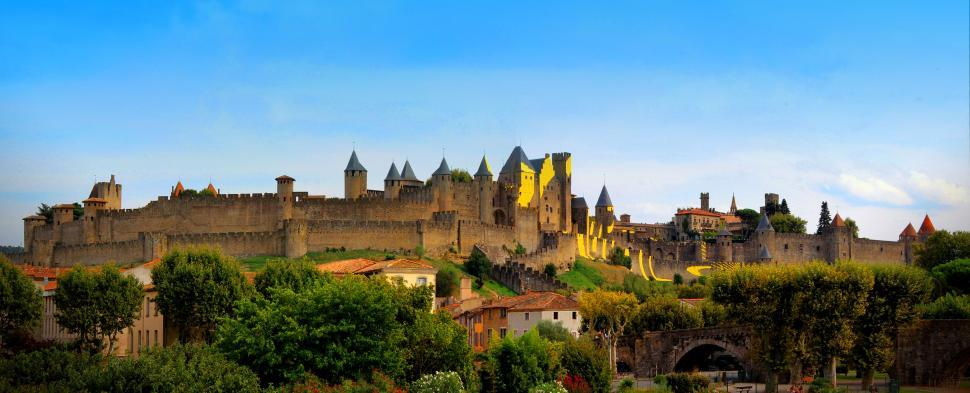 Download Free Stock HD Photo of Carcassonne - France - The Largest Fortified City in Europe Online